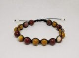 Healing Bracelet - Mookaite - Nurturing - Grounding - Shielding - Adjustable Length 7.5 - 9.5 inches - 8 mm beads