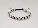 Healing Bracelet - Mother of Pearl - Protection - Calming - Adjustable Length 7.5-9.5 inches - 6 mm beads