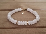 Healing Bracelet - Rose Quartz - Love - Adjustable Length 6.5 - 7.5 inches - Gold Filled