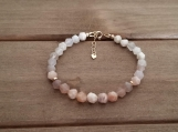 Healing Bracelet - Sunstone - Freedom - Originality - Sensuality - Romance - Independence - Luck - Gold Filled - 7-8 inches - 6 mm beads