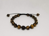 Healing Bracelet - Tiger Eye - Will Power - Adjustable Length 8.5-10.5 inches - 8 mm beads