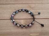 Healing Bracelet - Tourmaline - Adjustable Length 7.5-9.5 inches - 8 mm beads
