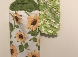 Kitchen Tea Towel Topper (sunflowers)
