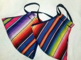 Mexican Serape Adult size Face Masks - 2 masks included