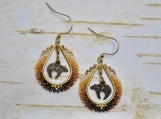 Native American Inspired Zuni Bear Drop Earrings