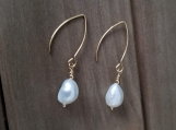 Natural Cultured Freshwater Pearls, Dangle & Drop Earrings, Stainless Steel, Golden, Bridesmaid Earrings, gifts for girls