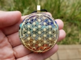 Orgonite Pendant - 7 Chakras - Flower of Life - Reiki - Spirituality - Yoga necklace - Unisex