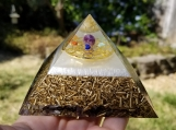 Orgonite pyramid + 7 chakras balancing - Positive Energy Balance - Protects from EMF radiation