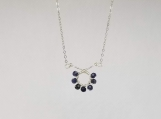 September Birthstone Necklace - Sapphire - Sterling Silver - 16 inches