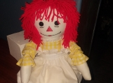 "20""Classic Raggedy Ann Handmade doll with Red hair"