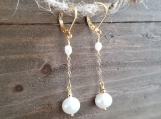 5-6 and 8-9 mm Natural Cultured Freshwater Pearls, Dangle & Drop