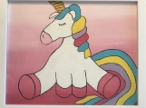 Artwork - Unicorn on Pink Background
