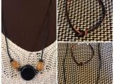 Black Necklace and knotted bracelet
