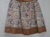Brown Print Skirt Girl's Plus-Size