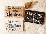 Christmas | Set of 3 Quotes | Choose Your Wood Finish | Mix