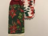 Christmas Tea Towel Cardinal bird/red topper
