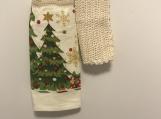 Christmas Trees tea Towel Topper(off white)