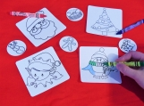 Color the stickers for christmas set of 8 stickers