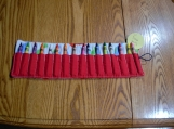 Dinosaurs, red, green, blue, crayon holder
