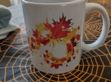 Falling leaves mug