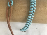 Friendship Bracelets - Blue Suede With brown leather