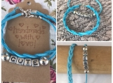 Friendship Bracelets - Cute Blue Suede