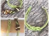 Friendship Bracelets - Green and Brown Suede