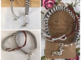 Friendship Bracelets - Grey Suede with dog charm