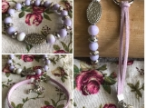 Friendship Bracelets - Lilac Suede with dog charm