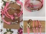 Friendship Bracelets - Pink Microsuede