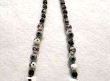 Gorgeous Black and White Multi-patterned Necklace