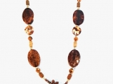 Gorgeous Crackle Fire Agate Toggle Necklace