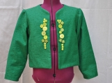 Green decorated jacket/cover-up