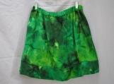Green Tie-Dye Girl's Plus-Size Skirt