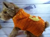 Handmade puppy coat sweater, small-medium Yorkie, mini-dachshund