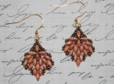 Hand-Stitched Drop Earrings