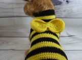 Halloween costume fur baby sweater, fits small Yorkie size dog