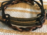 Inspirational bracelets - Freedom and Believe