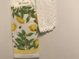 Lemon Tea Towel Topper (white)