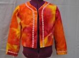 Orange tie-dye jacket/cover-up