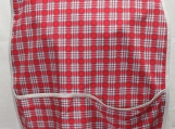 Red Checked Adult Bib