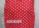 Red Polka-Dot Adult Bib