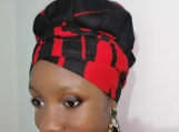 Reversible Satin Lined Ankara Bonnet With Tie - Head Wrap