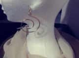 Rose Gold Swirl Hoop Earrings