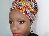 Satin Lined Ankara Bonnet With Tie - Head Wrap