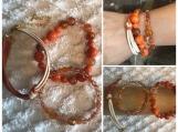 Stack Bracelets - Burnt Orange and Beige