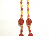 Stunning Fall Colors Glass and Acrylic Necklace
