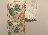 Tea Towel Topper apples pears and cherries (white topper)
