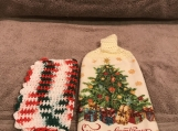 Tea Towel Topper Seasons Greetings (cream topper)