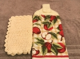 Tea Towel Topper with apples (cream topper)
